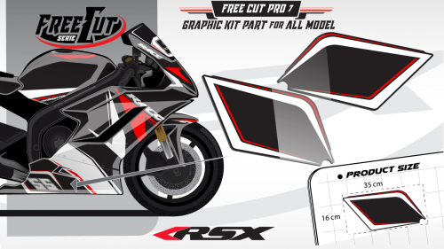 Low fairing F7 black Graphic kit
