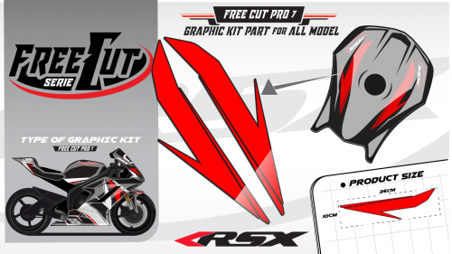 Fuel tank F6 black Graphic kit