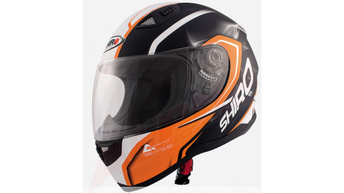CASQUE SHIRO SH-881 NOIR/ORANGE