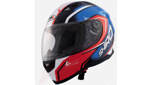 HELMET SHIRO SH-881 BLUE RED