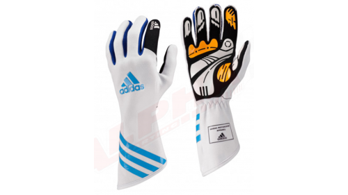 GLOVES WHITE/BLUE ADIDAS XLT