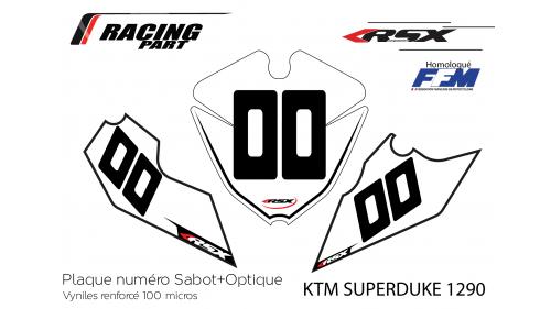 Plaque numéro KTM SD1290
